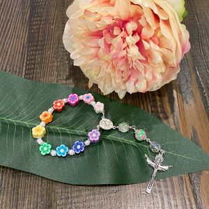🎗FOR KIDS - Flower bead Single Decade Rosary